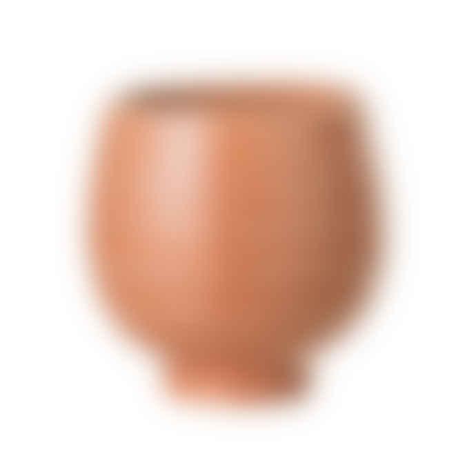 Bloomingville Orange Stoneware Pot