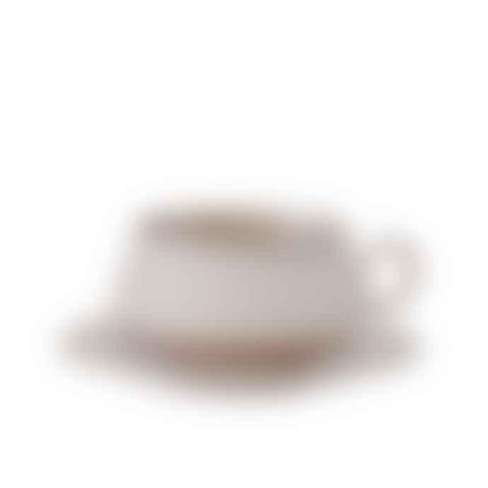 Hend Krichen Grey Ceramic Teacup And Saucer