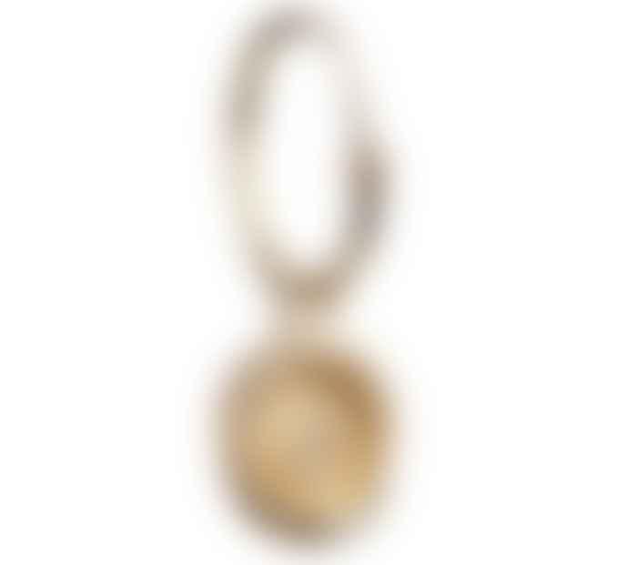 JdL Jewellery 9ct Yellow Gold Lock of Love Hoop with Diamonds (single)