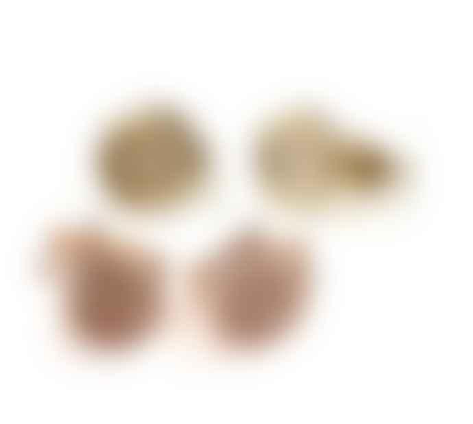 "JdL Jewellery 9k Gold ""Petites"" Hug O And Kiss X Wax Seal Studs (Pair)"