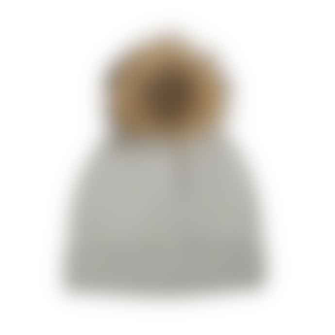 Somerville Pale Grey Natural Cashmere Fur Knit Hat