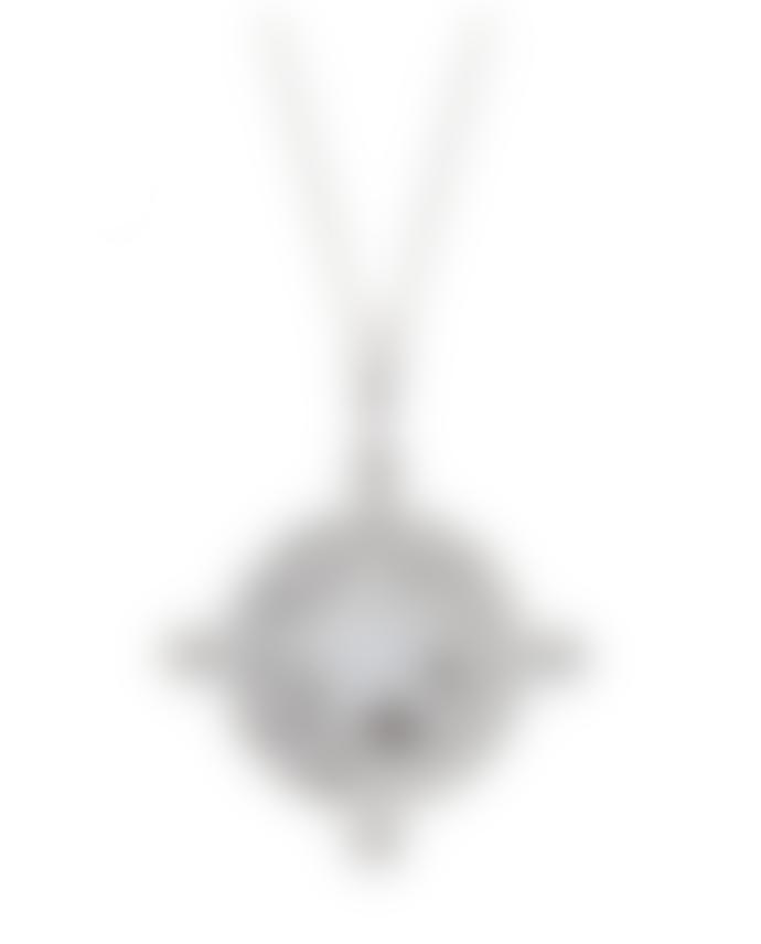 Kiki Minchin Clear Crystal Amalfi Coin Silver Necklace
