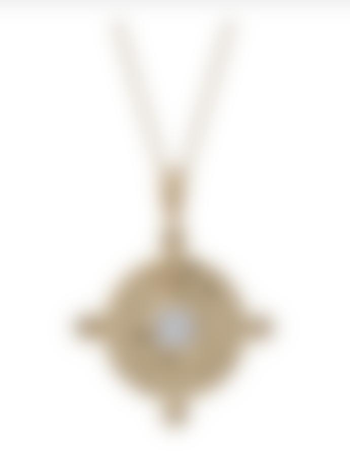 Kiki Minchin Clear Crystal Amalfi Coin Gold Necklace