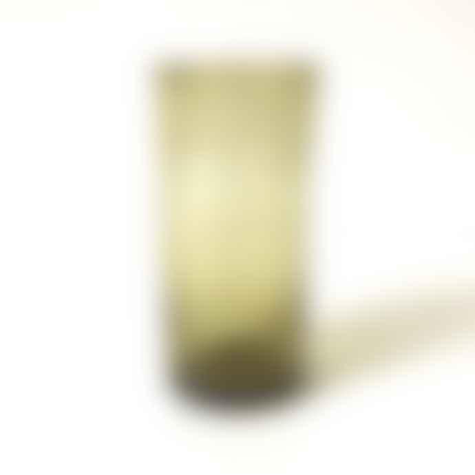 FAIR TRADE Amber Mouth Blown Tube Glass