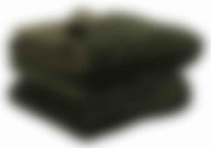 Wallace Cotton Large Olive Plush Velvet Bedspread
