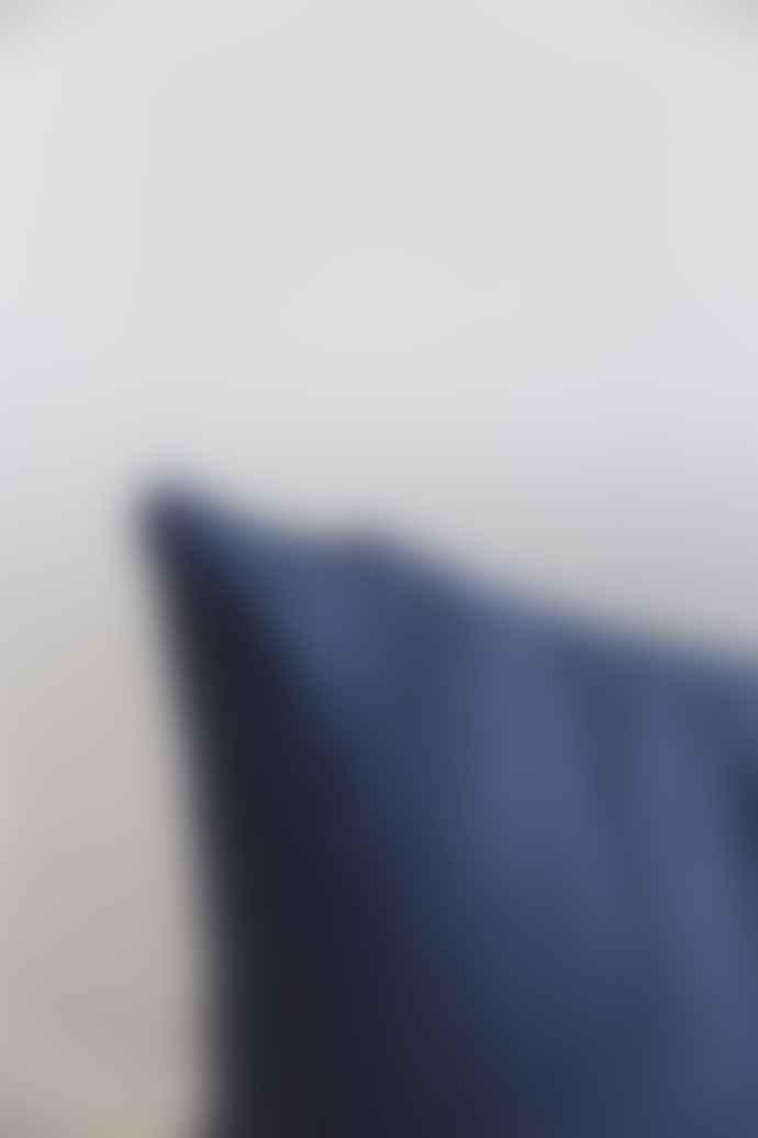 TISSH Dark Navy Mono Cotton Cushion