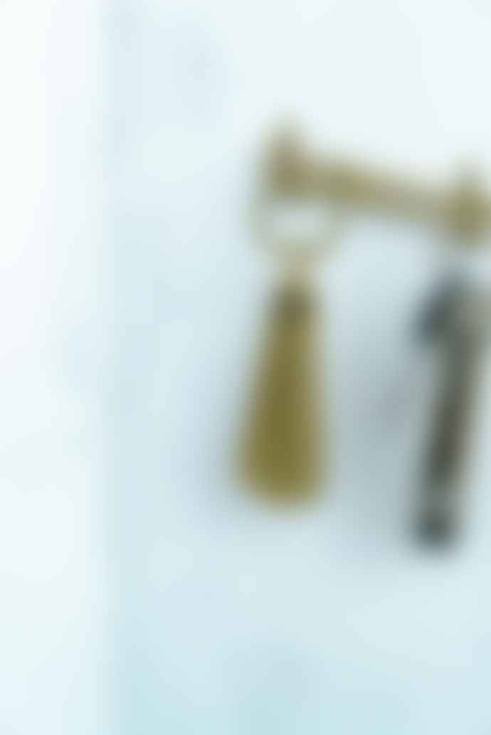 Diarge Japan Brass Shoehorn Key Ring - Gold