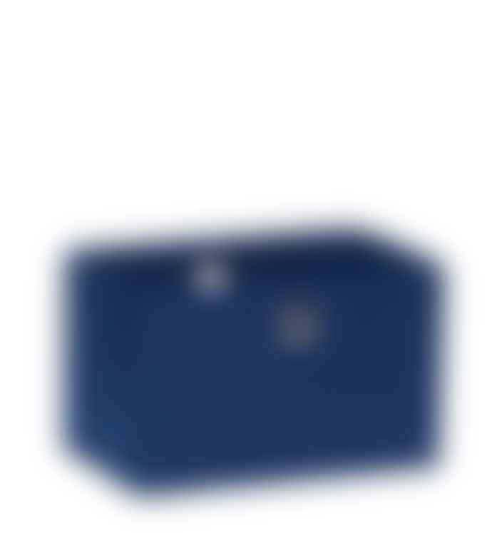 Hubsch Medium Blue Square Felt Storage Basket