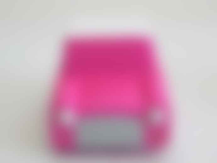 Kiko Pink Classic Wooden Wind Up Car
