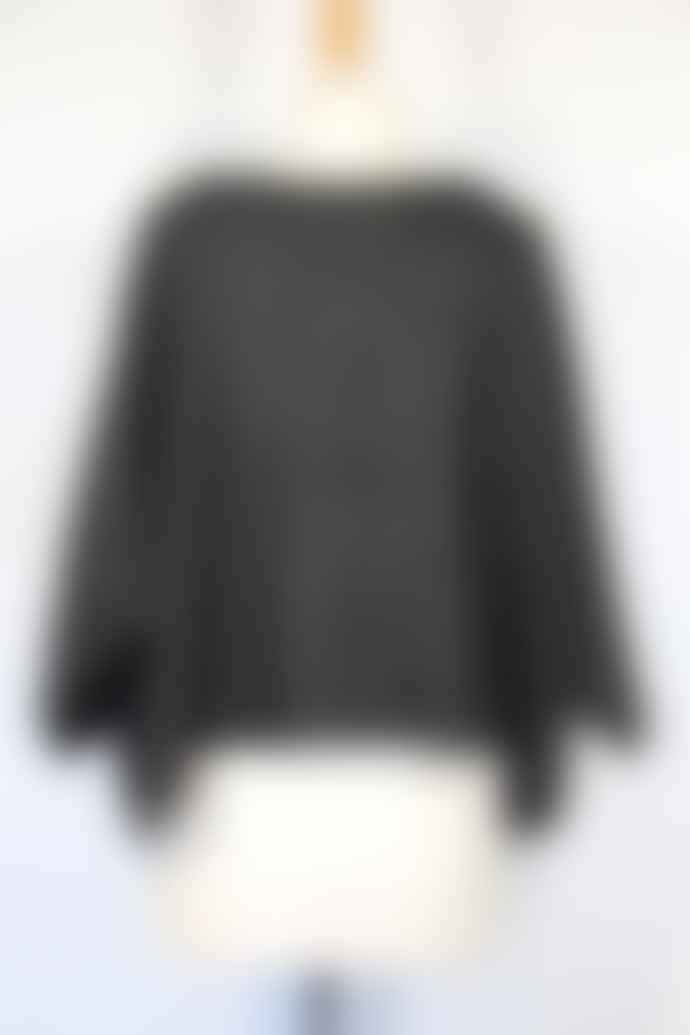 Window Dressing The Soul Black Mohair Jumper