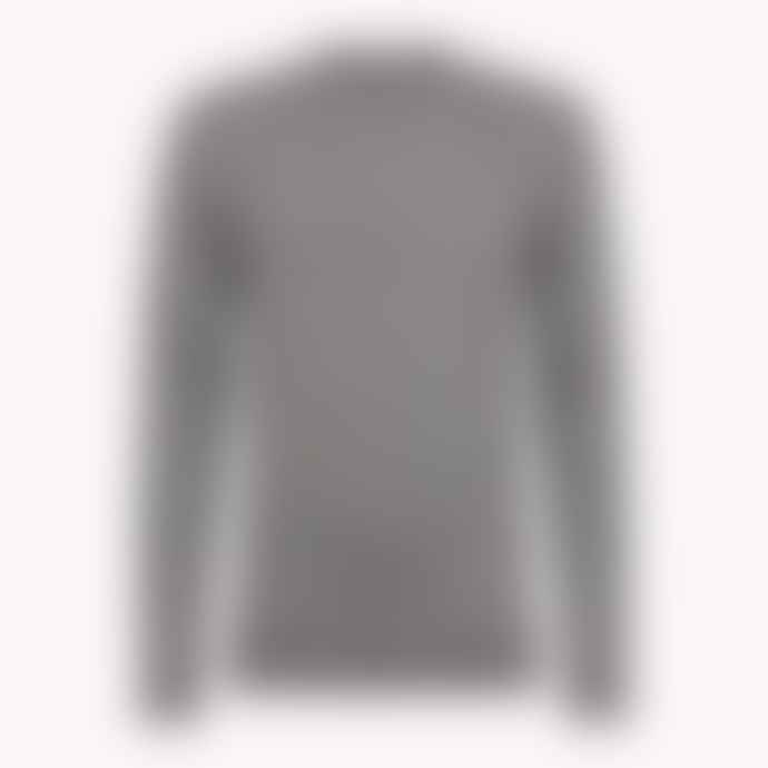 Tommy Hilfiger Grey Luxury Wool Crew Neck Jumper