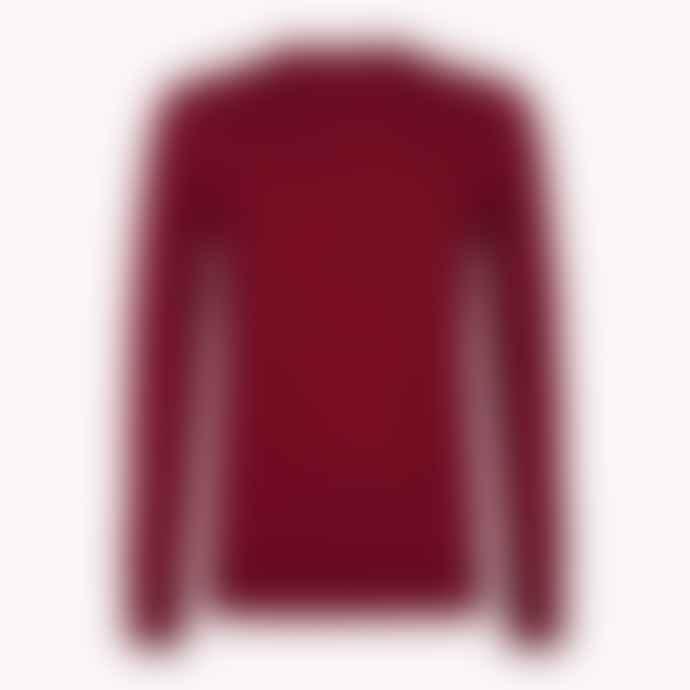 Tommy Hilfiger Burgundy Luxury Wool Crew Neck Jumper