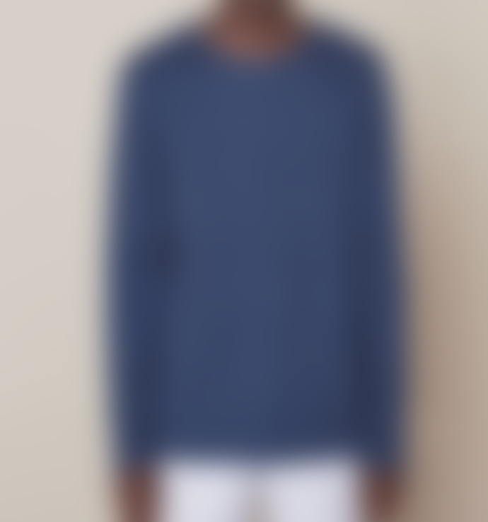 Elvine Blue Joaquin Cotton Sweatshirt