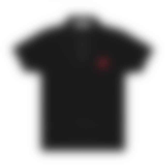 Comme Des Garcons Play CDG Red Play Polo Shirt (Black)