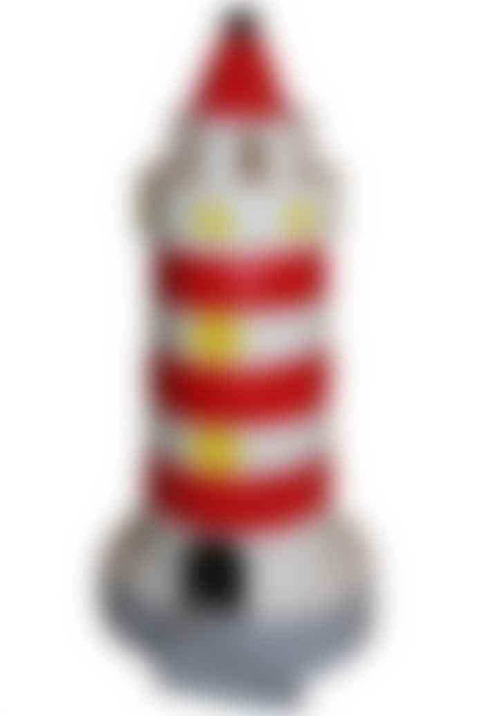 Heico  Red And White Large Lighthouse Lamp