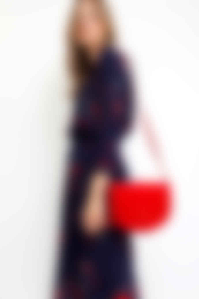 Sienna With Love Red Suede Rounded Bag