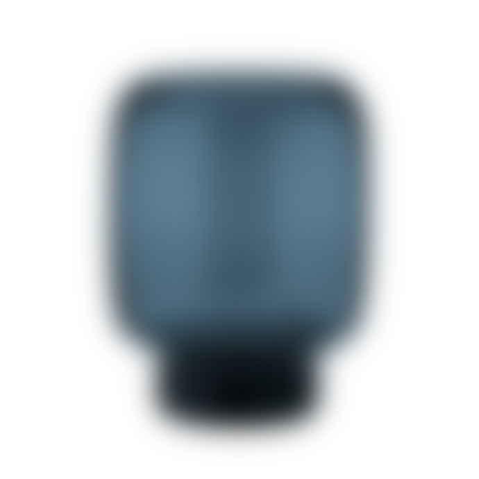 Stelton Medium Midnight Blue Hoop Glass Vase