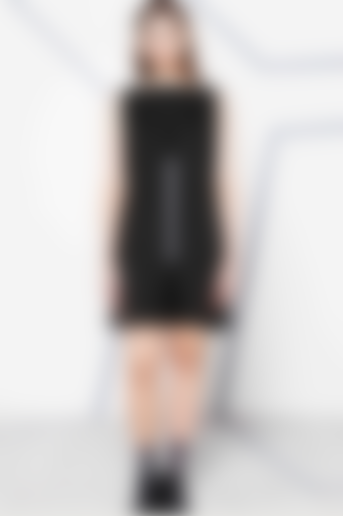 Negarin London Black Levade Sleeveless Dress