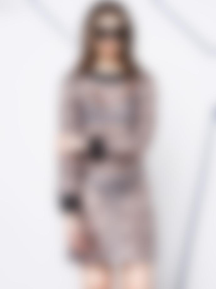Negarin London Falabella Organdy Geometric Print Dress