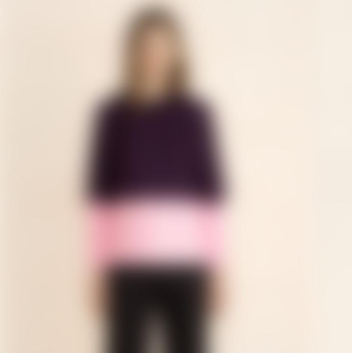 Marimekko  Purple Leona Lanketti Print Cotton Top