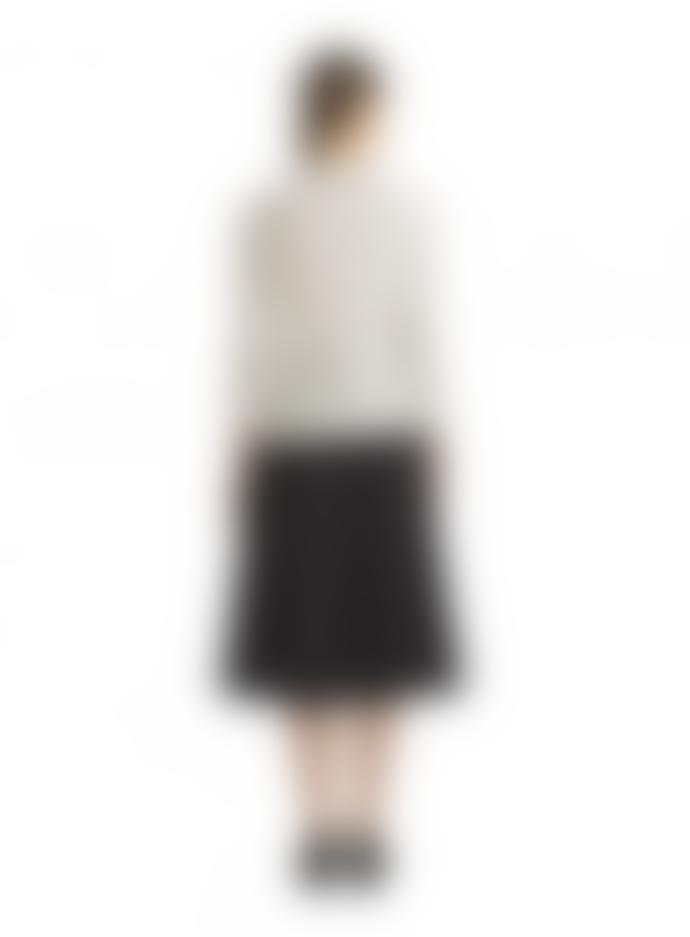 Marimekko  Black Satiny Semi Flared Skirt