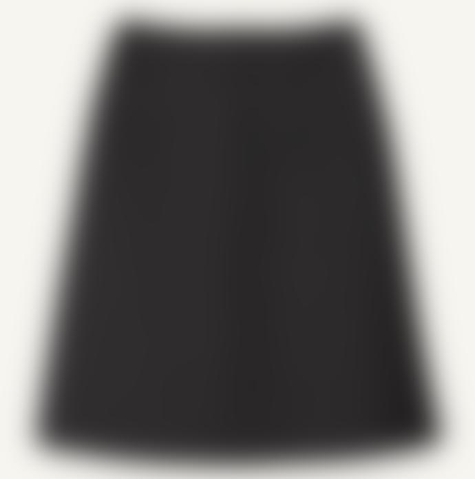 Marimekko  Grey Muikkis Flared Merengo Wool Skirt