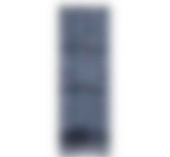 British Colour Standard Striped Pompadour Indigo Blue Candles