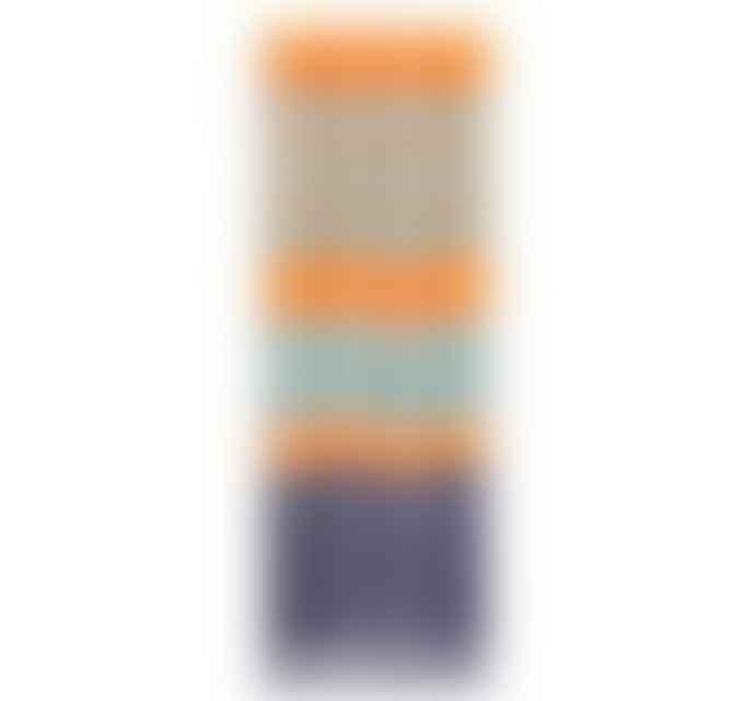 British Colour Standard Striped Gunmetal Opaline Marigold Candles