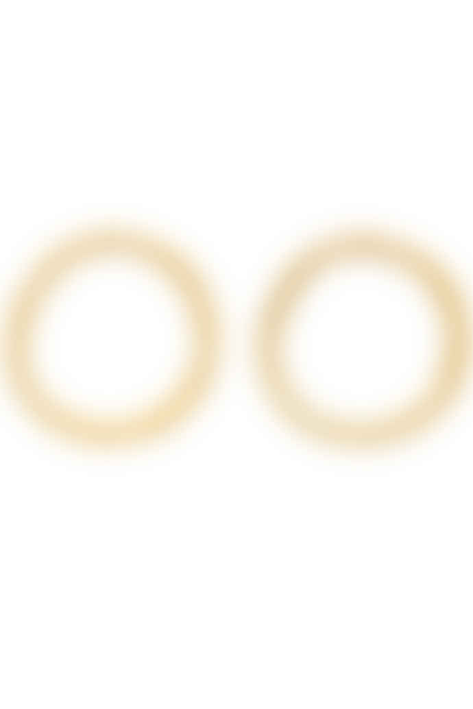 People Tree Brass Circle Earrings