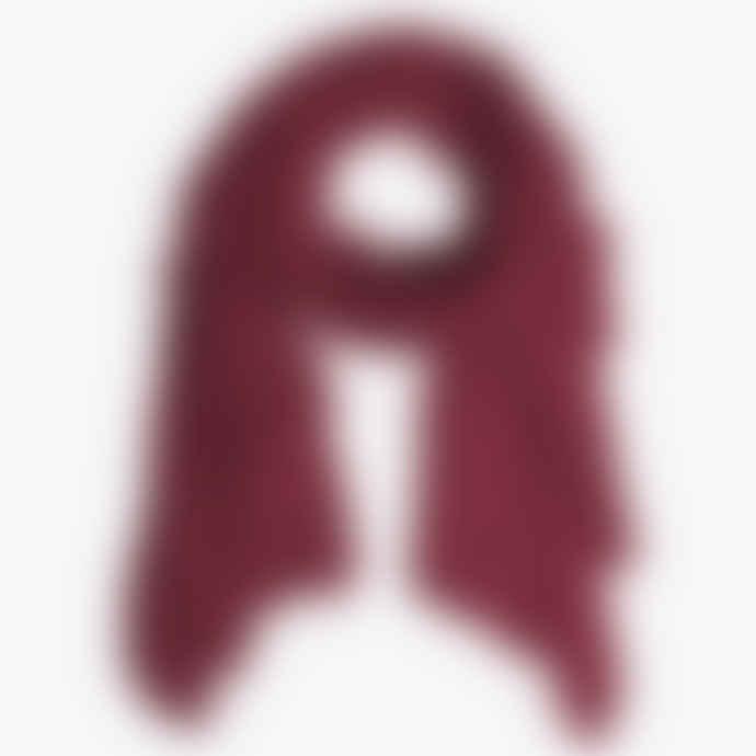 Pur Schoen Bordeaux Hand Felted Cashmere Soft Scarf