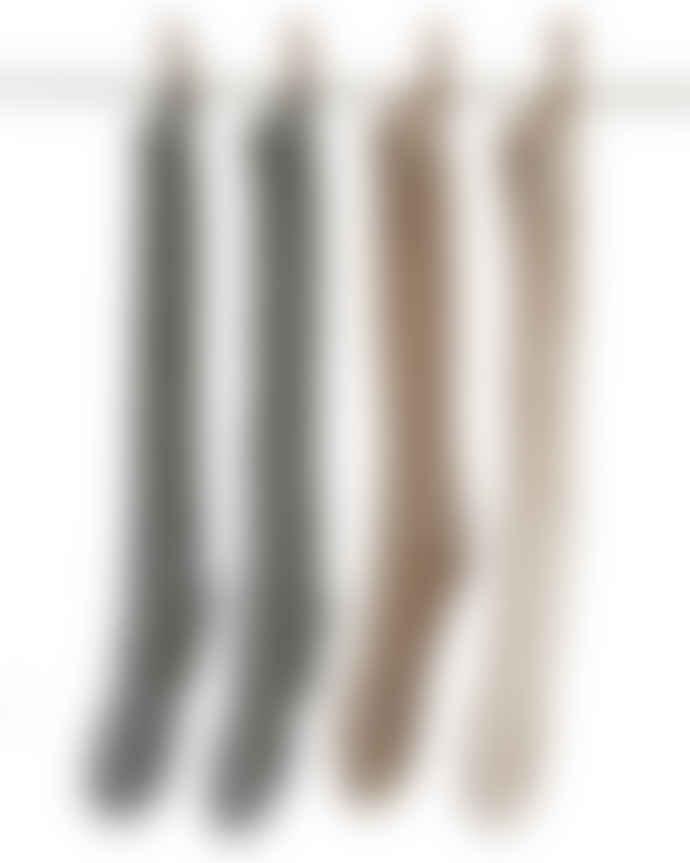 Samantha Holmes Alpaca Knee Length Ribbed Socks in Charcoal
