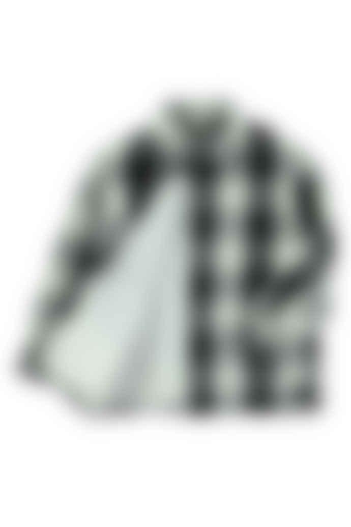 Molo Boys Black And White Plaid Romney Shirt