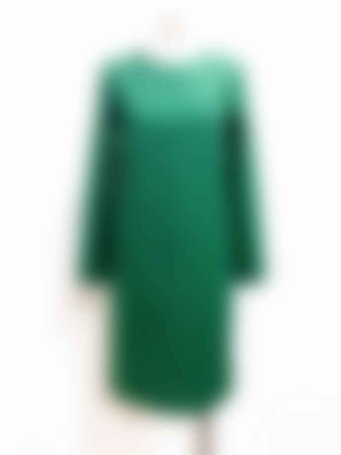 Marimekko  Green Birgit Long Sleeves Straight Cut Dress