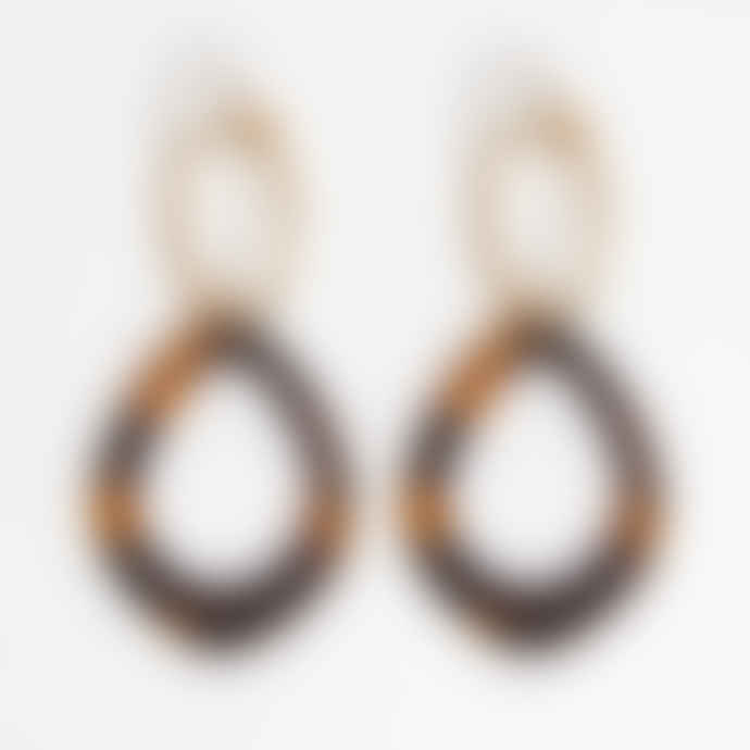 Sienna With Love Gold Tortoise Earrings