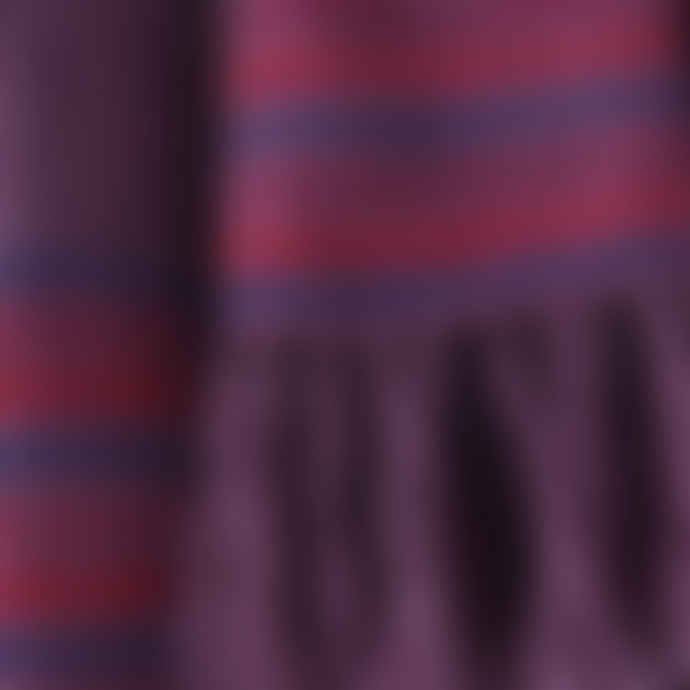 Mahala Purple Hand Woven Wool Scarf
