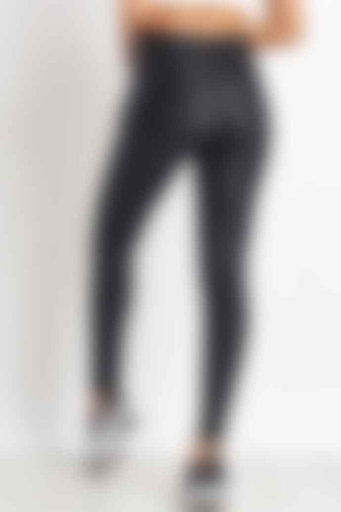 Terez Black Cheetah Foil Tall Band Leggings