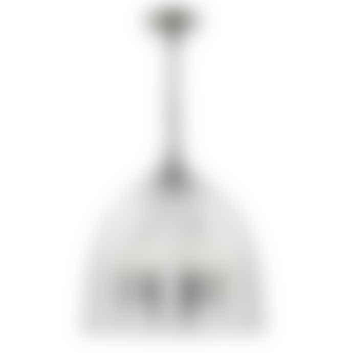 Persora Mini Three Light Pendant Ribbed Glass Cloche Ceiling Light