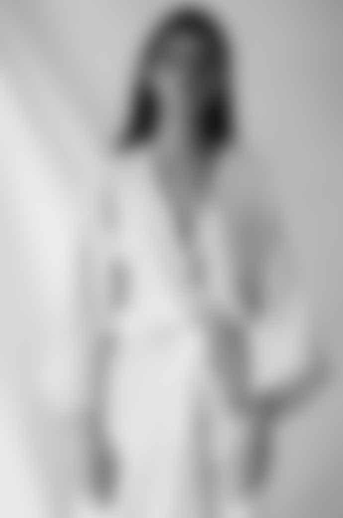 Deiji Studios Pinstripe Kimono Robe