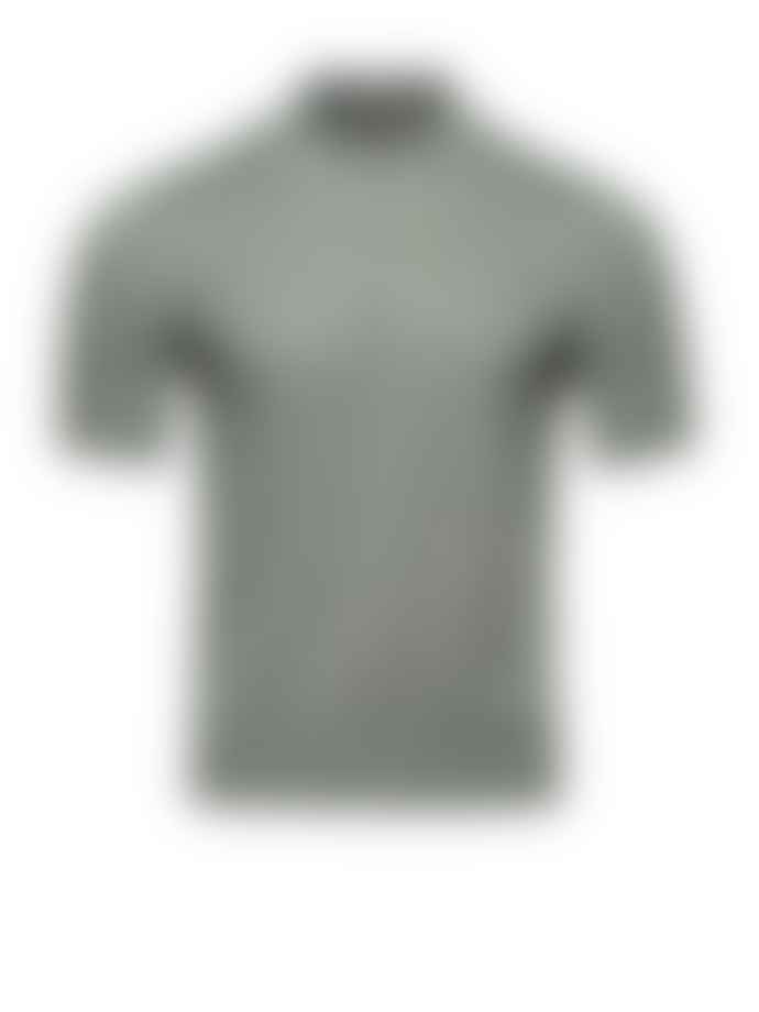 Corneliani Sage Quater Zip Pique Polo Shirt
