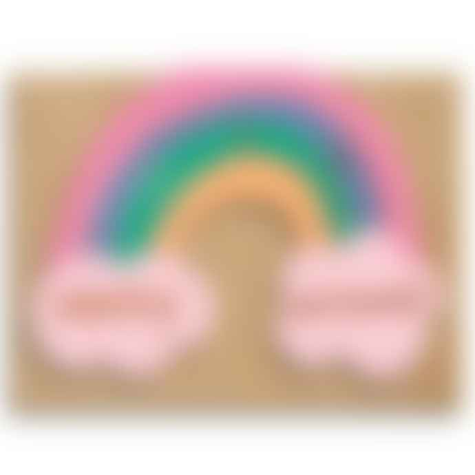 1973 Rainbow Birthday Greetings Card