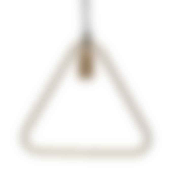 PTMD Triangle Brass Iron Hanging Lamp