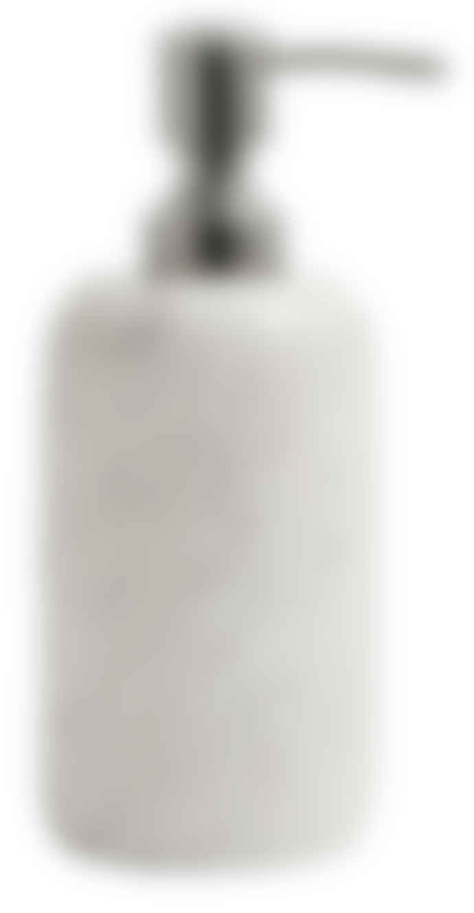 Nordal White Marble Soap Dispenser