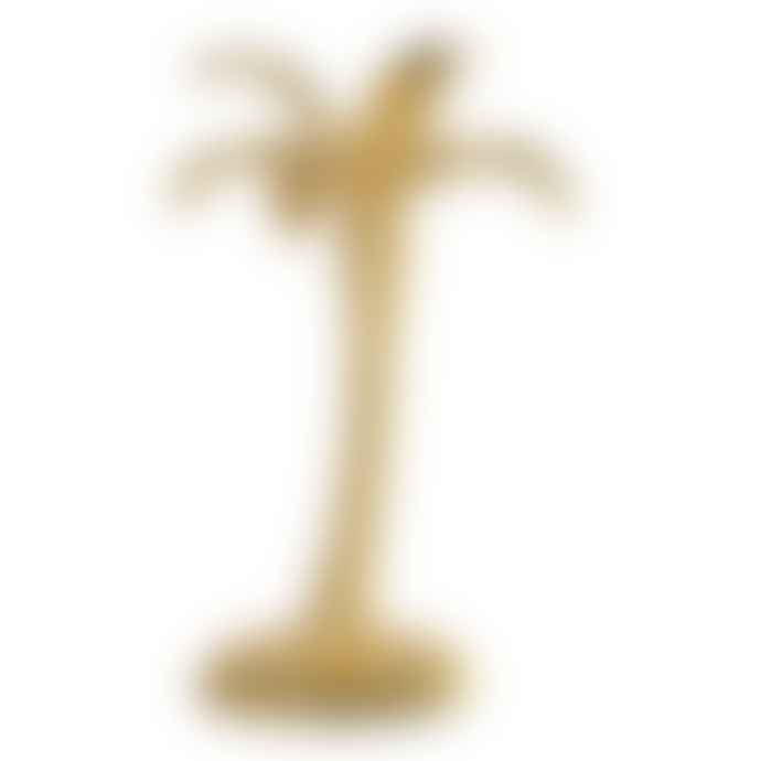 The Upholsterer Gold Palm Tree Candlestick