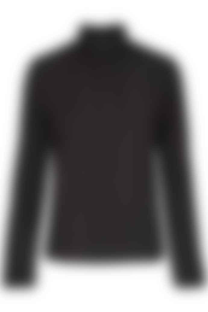 POP Copenhagen Double Layered High Collar Blouse