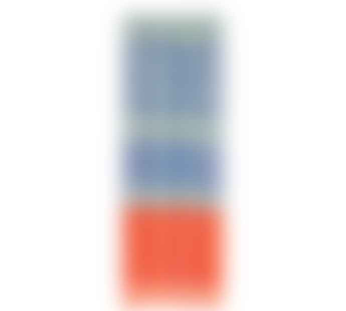 Designed in Colour Three stripe candles (pack of 4) in Opaline, Pompadour & Rust
