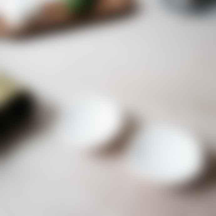 Notary Ceramics White Clay And Matt White Glaze Pinch Dish