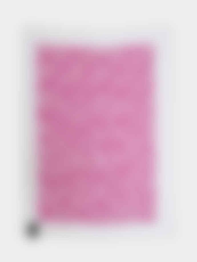 Kiss My Kitchen White Pink Feather Dishcloth