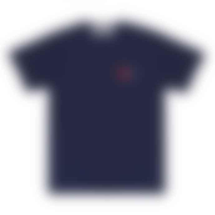 Comme Des Garcons Play Play Comme des Garçons T-Shirt with Double Heart (Navy) P1T226