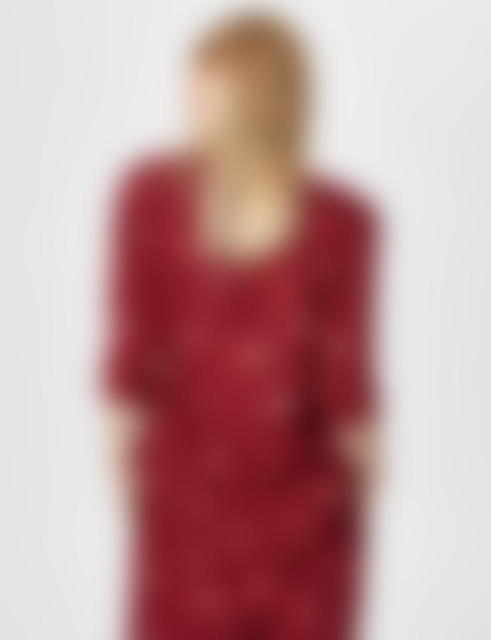Selected Femme Printed Kaleo Short Sleeved Top
