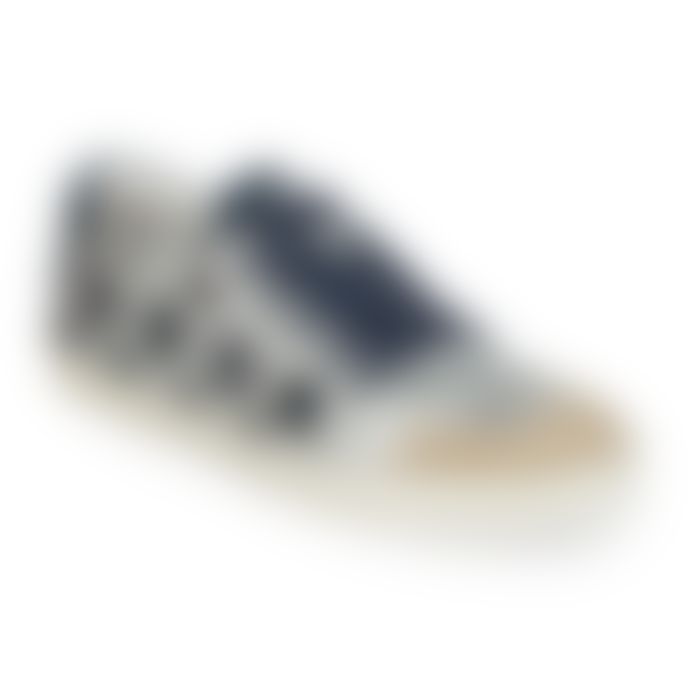 Ash Silver Leather Midnight Glitter Majestic Star Motif Trainers